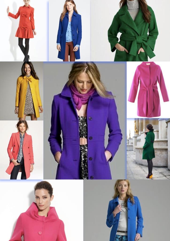 Цветное стильное пальто