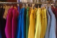 Стильное цветное зимнее пальто