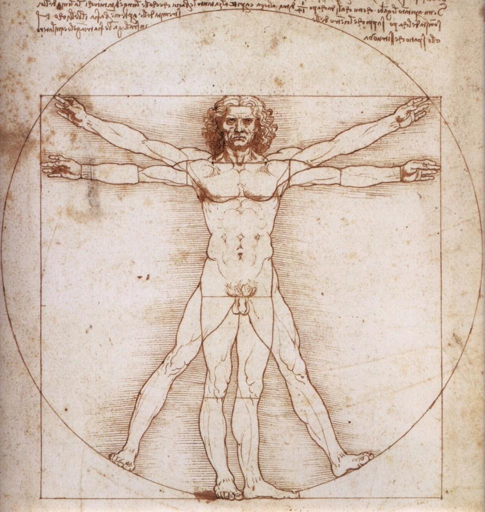 Леонардо да винчи витрувианский человек золотое сечение