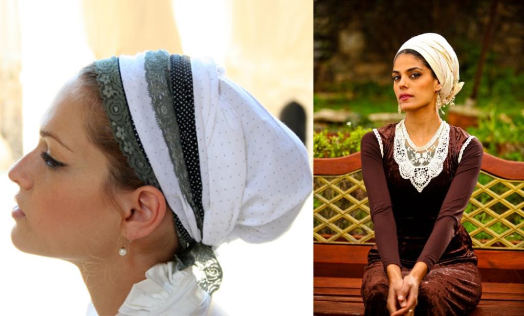 Израильские женщины в платках